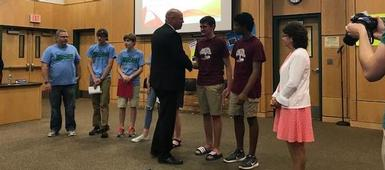 OOTM, Envirothon Recognized at BOE Meeting
