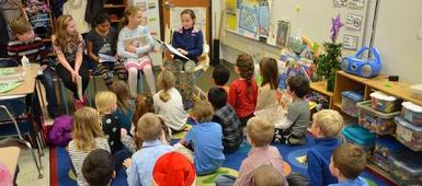 Fourth Graders Read at Waterman As Part of Holiday Giving